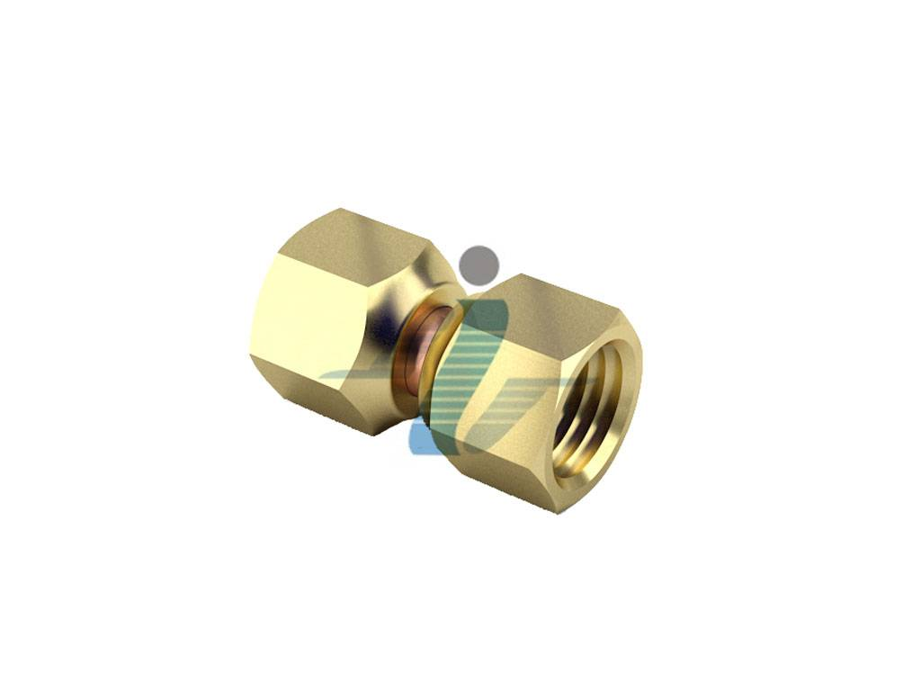 Brass Tube Coupling Swivel Flare