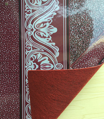 Red Felt-Back PVC Flooring