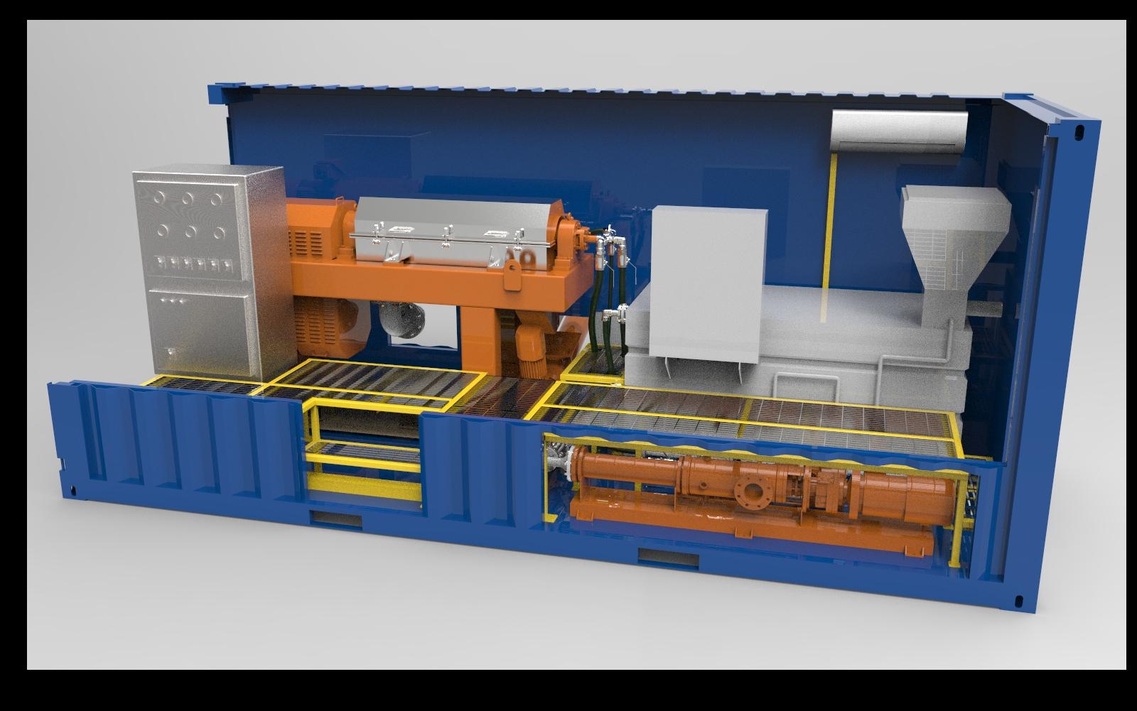 KES 50M³ solid liquid separation unit for waste mud slurry dewatering