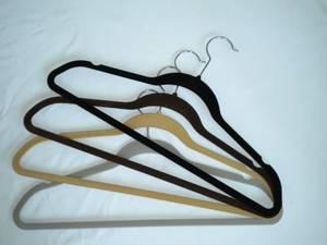 flocked suit hangers