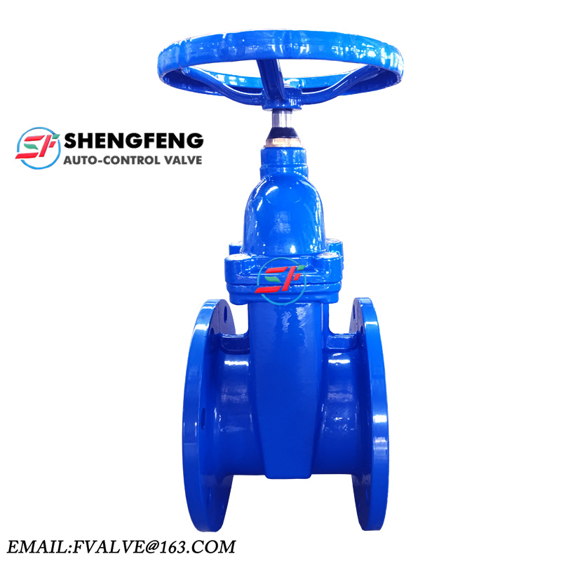 DN150 F4 DIN non-rising stem Water resilient seat gate valve