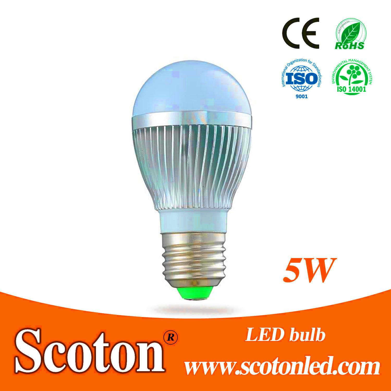 7W LED Bulb By Stretching Aluminum