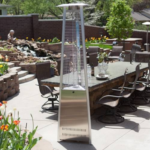 Glass tube Tower type patio heater