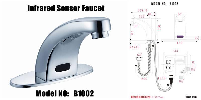 auto sensor taps faucet model :B1002