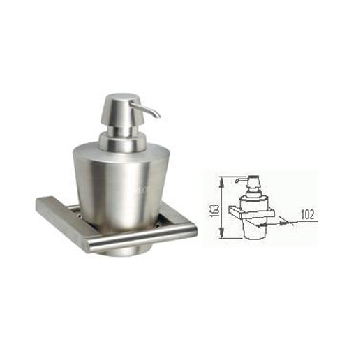Stainless steel bathroom accessories wall mount liquid soap dispenser