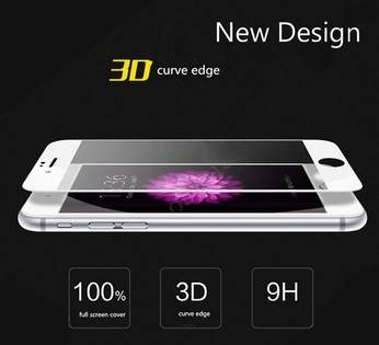 Ultra Thin 3D Full Curved Anti-scratch Mobile Phone Glass Screen Protector For Iphone 7+ Screen Film