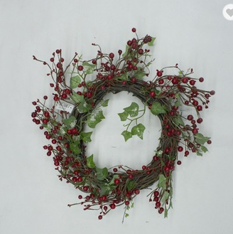 wholesale christmas garland christmas decoration red berry