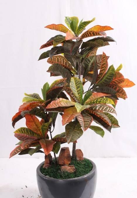 Artificial Plant Croton Codiaeum variegatum