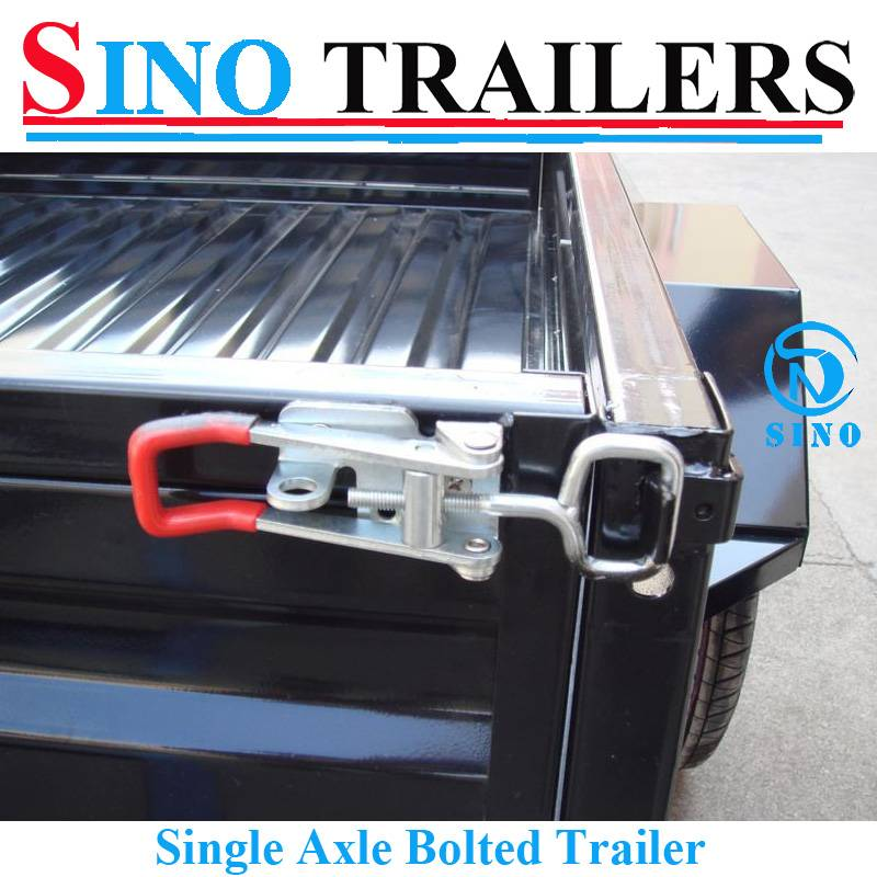 Single Axle Bolted Box Trailer with Customized Cages