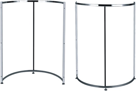 Factory Price New Design Round Clothes Rack Display for Pillar