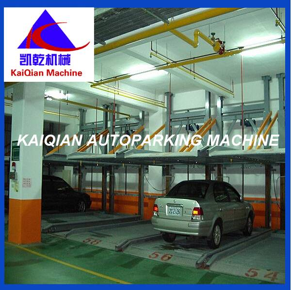 Back cantilever/ 2 floor Hydraulic leveling system/ Puzzle parking garage