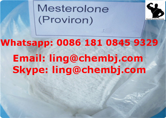 Proviron / Mesterolone CAS 1424-00-6 Steroid Powder for antiestrogenic treatment