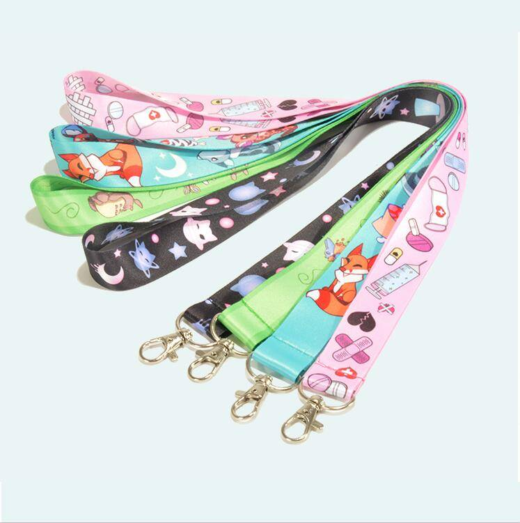 Cheap custom heat transfer printed sublimation polyester lanyard