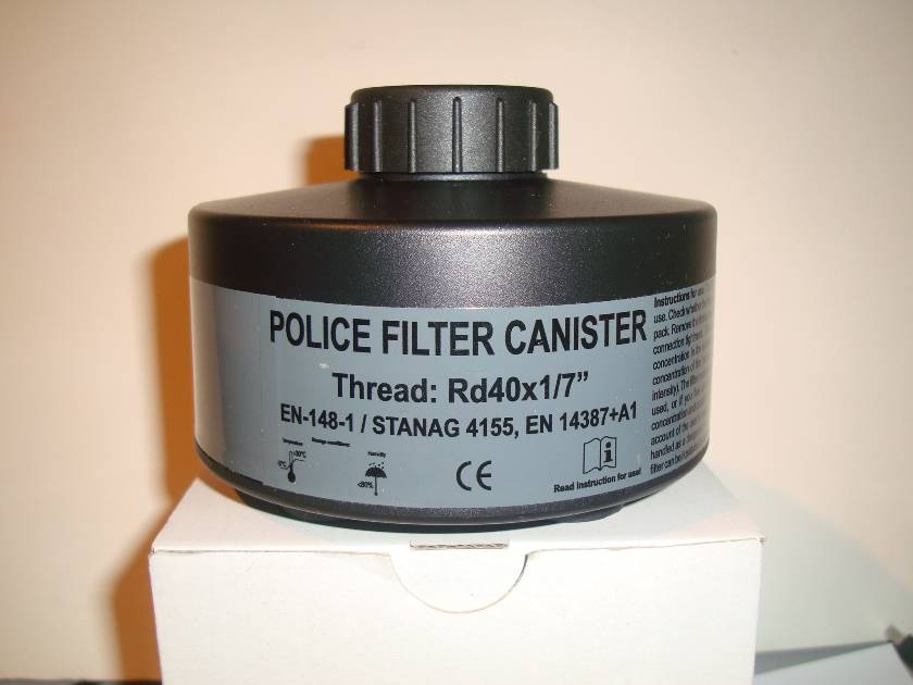 Police  gas  filter  (canister  )