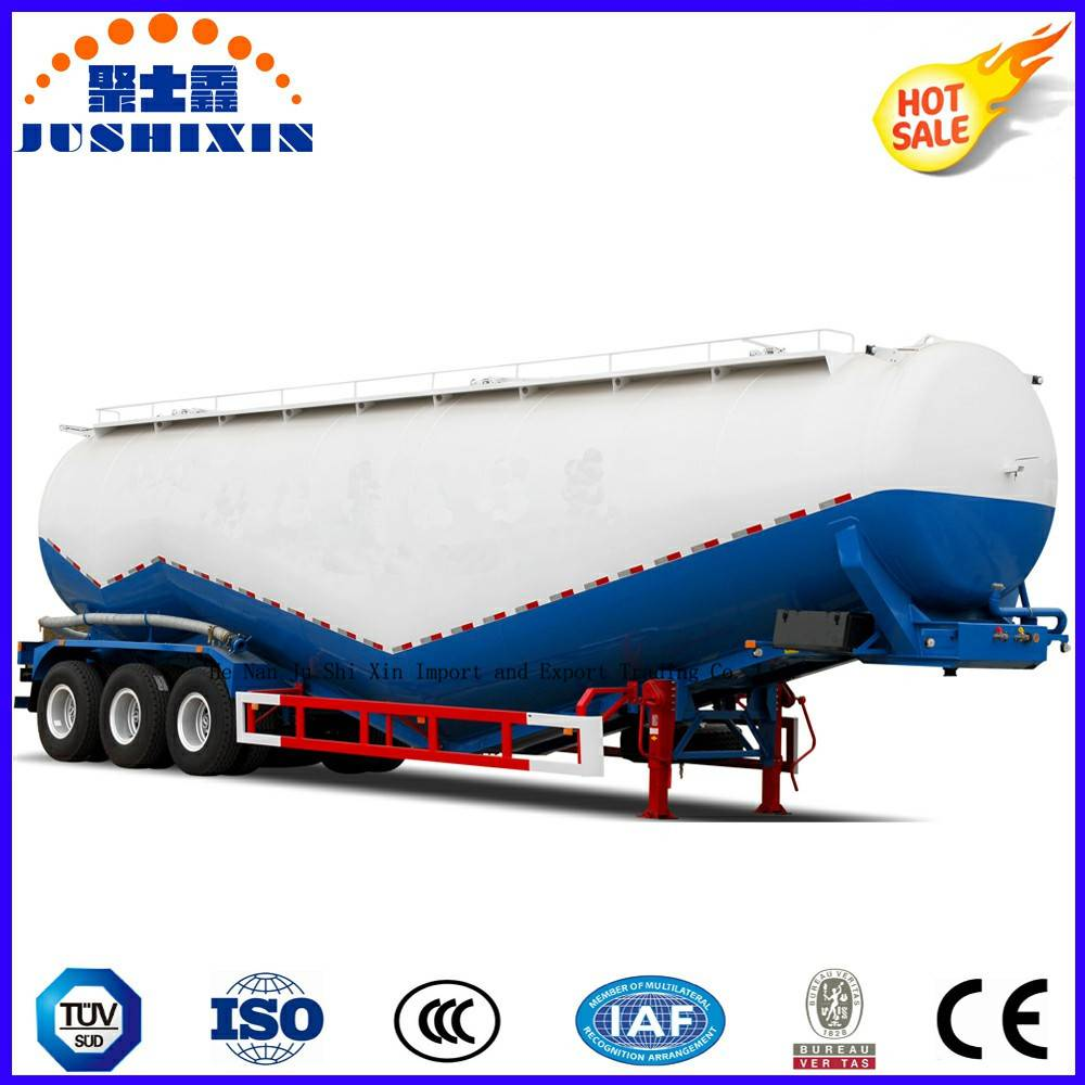 3 Axle 45cbm Bulk Powder Materials Transportor Tanker Truck Semi Trailer