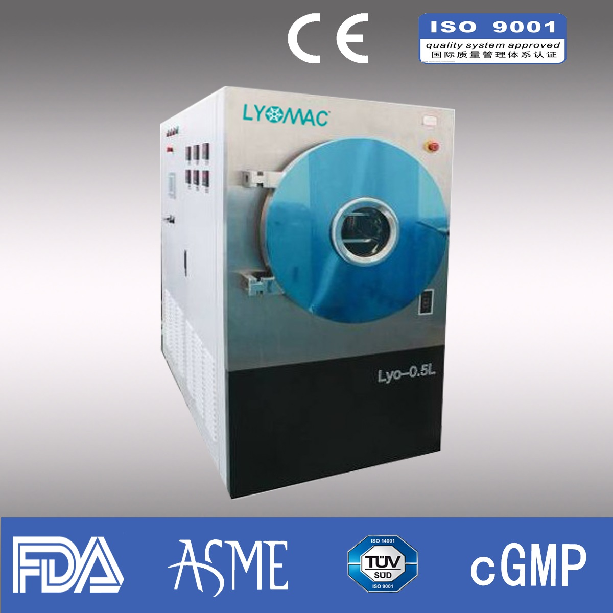 12kg/liter Lab Freeze dryer/ Pharmaceutical freeze dryer