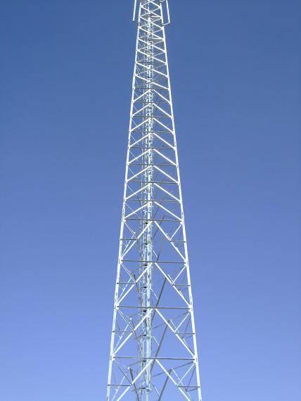 45 meters telecommunication lattice steel tower