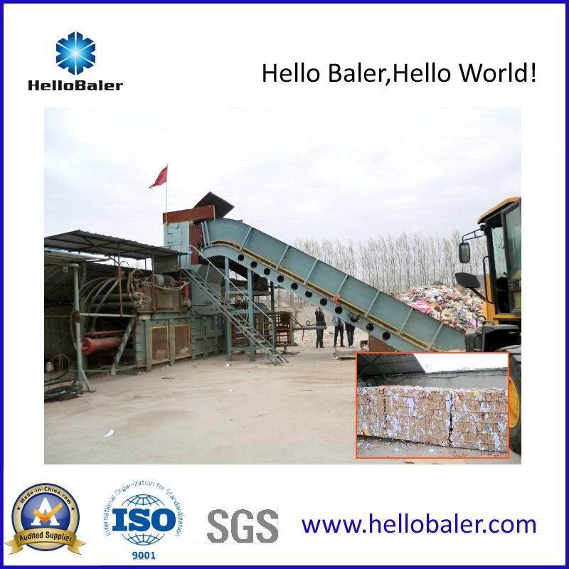 Semi-automatic Scrap paper baler with hydraulic cylinder
