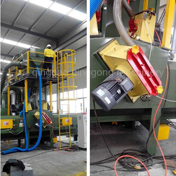 Steel Structure Pass Through Sandblasting Machine/Abrator/Equipment