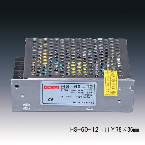 Standard 60W Power Supply 12v 5a  LED Power Supplies
