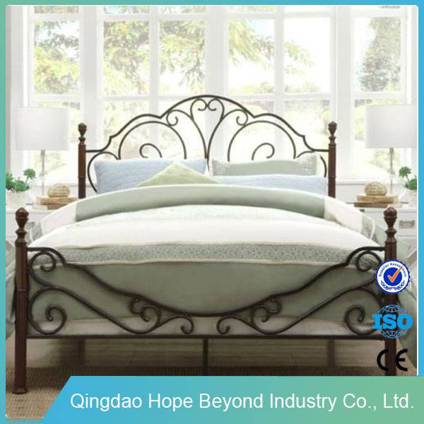 Household Bedroom Metal Furniture Modern wrought iron bed