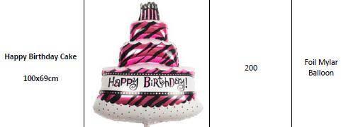 Offer Various Birthday & Love & Decoration & Cartoon Helium Foil Mylar Balloons