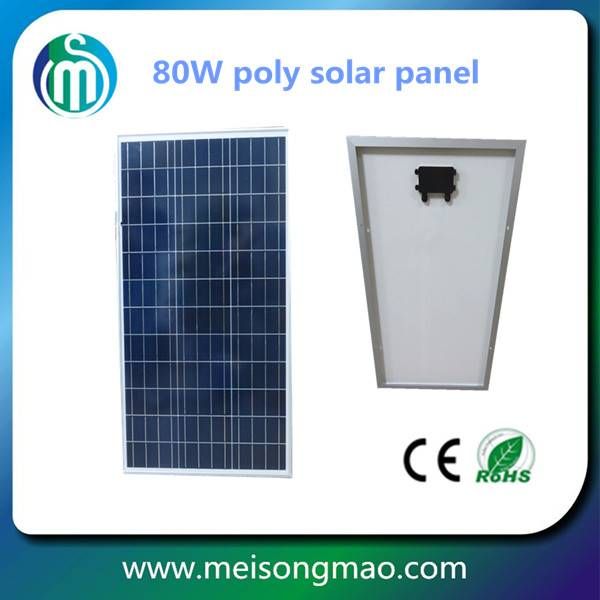 80W poly solar panel for home solar system