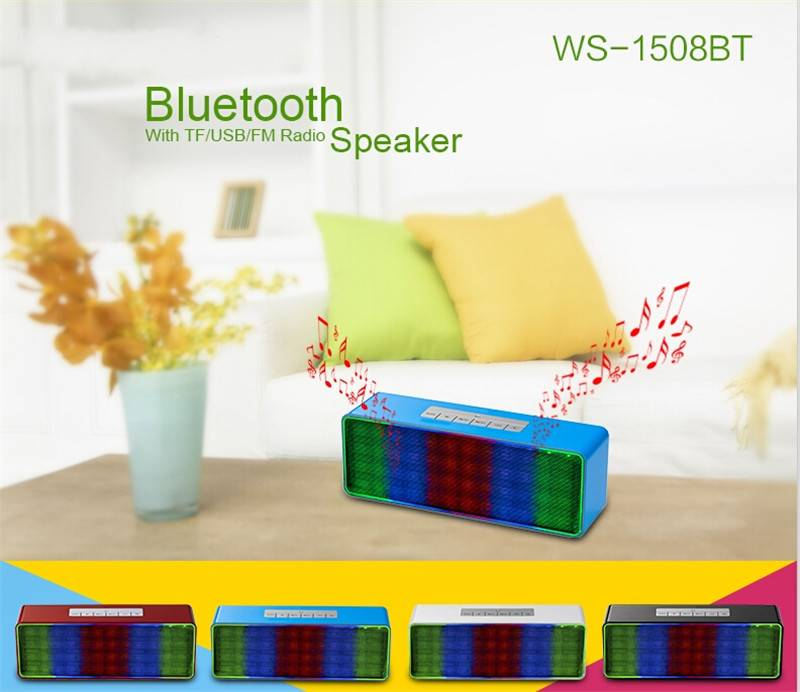 Wireless Stereo Speakers with LED light portable Hands-free Audio MP3 Player Amplifier Subwoofer Wit
