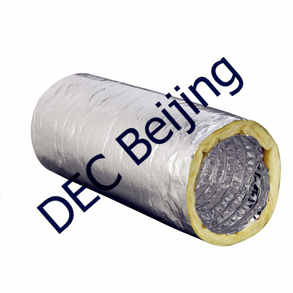 24kg Glass Fiber insulation 8 inch insulated flexible duct
