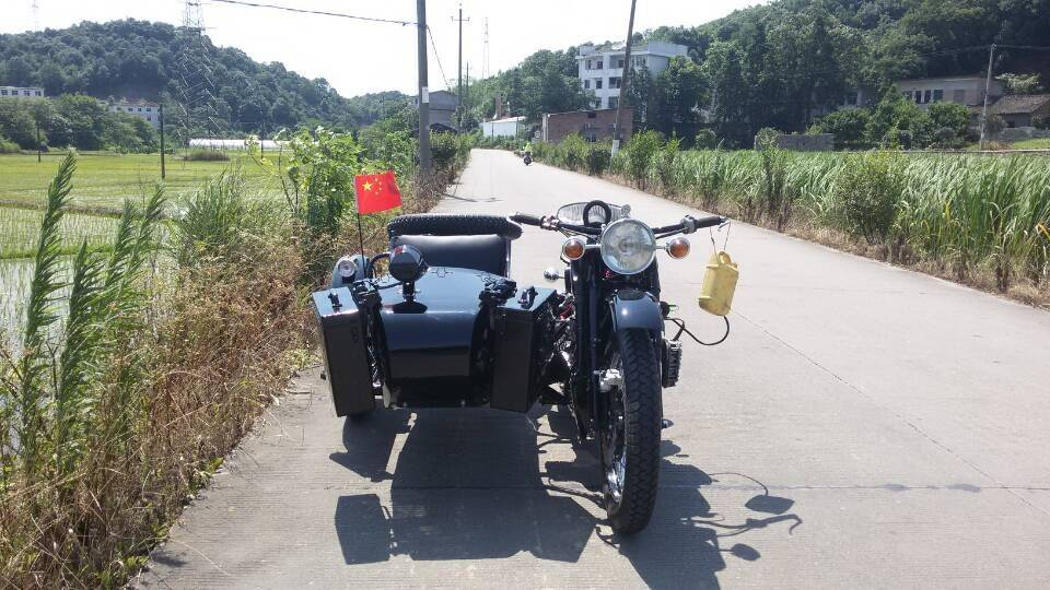 Customized Shine Black Color 750Cc Motorcycle sidecar