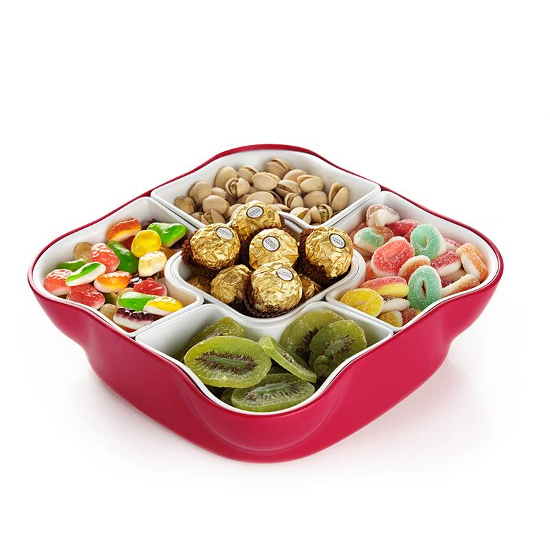 Ekoa wholesale divided pp plastic gourmet boxes candy tray