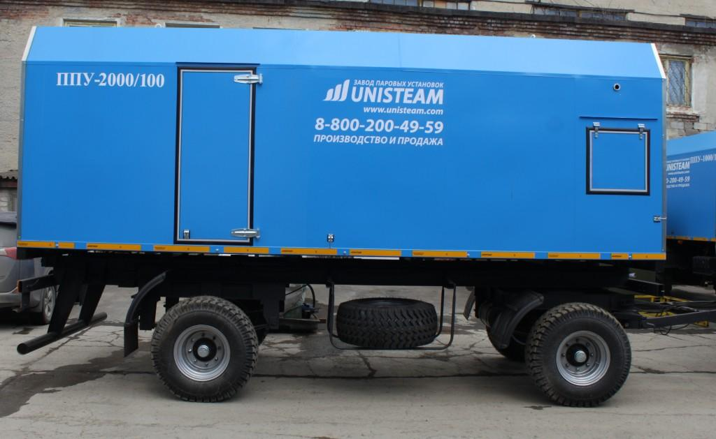 UNISTEAM-MP 2000/100 Portable Industrial steam generator for oilfield, railroad, road building