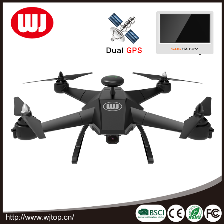 Dual GPS/5.8G transmission rc drone quadcopter with follow me function