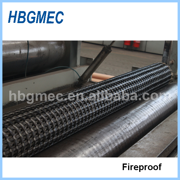 Basalt geogrid used for embankment reinforcement