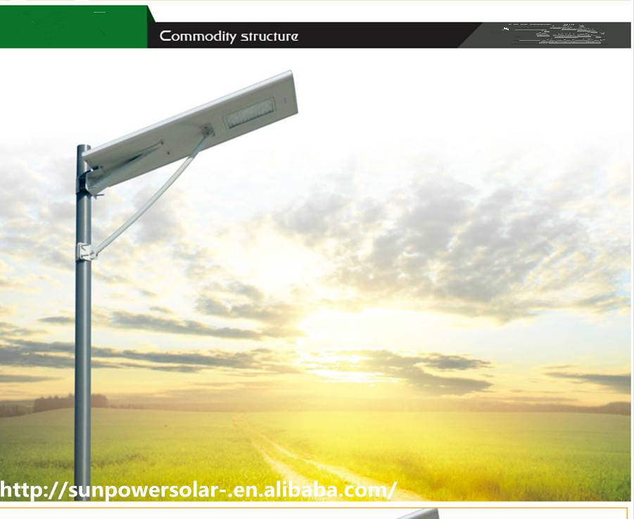 top quality Led solar street light with 2 years warranty 30w