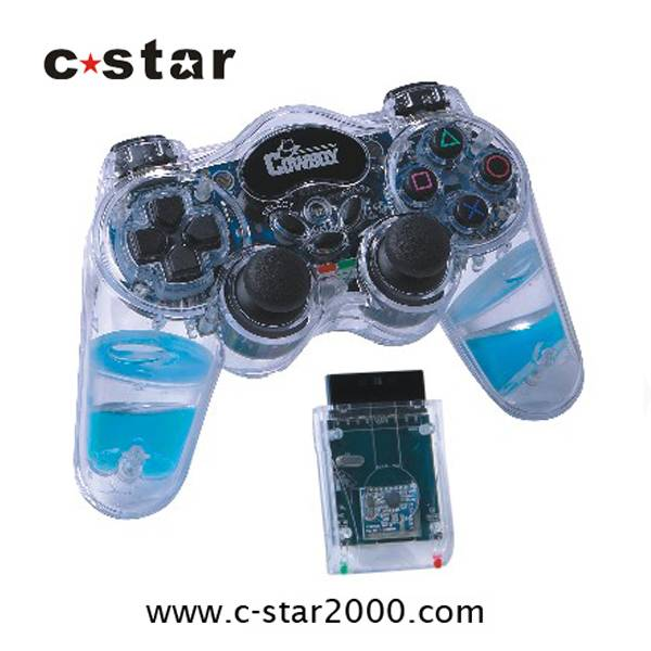 2.4GHz wireless game controller\joypad\gamepad for PS2 with water