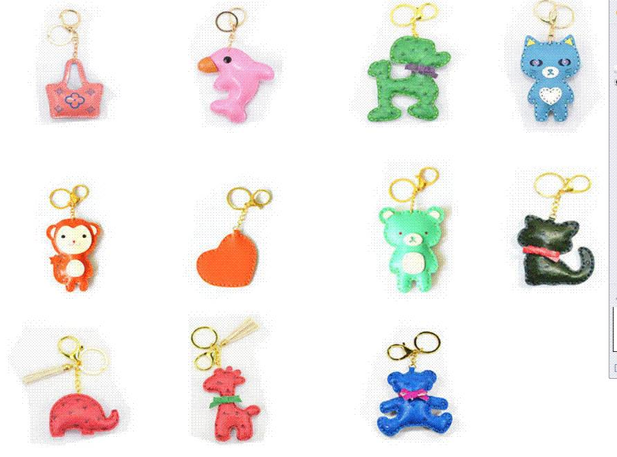 2016 Newest promotion gifts custom 3d key chain