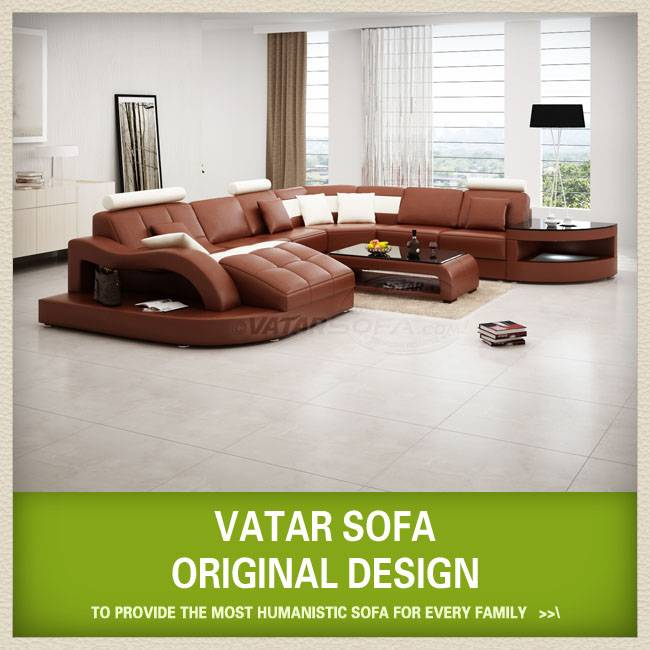 modern European style leather sofa