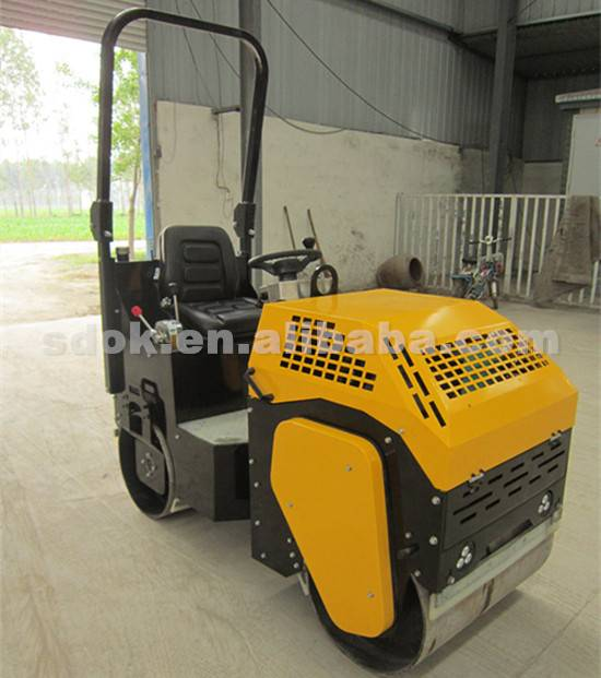 Ride on Hydraulic Vibratory Road Roller,Double steel wheel gasoline roller,rubber tire road roller f