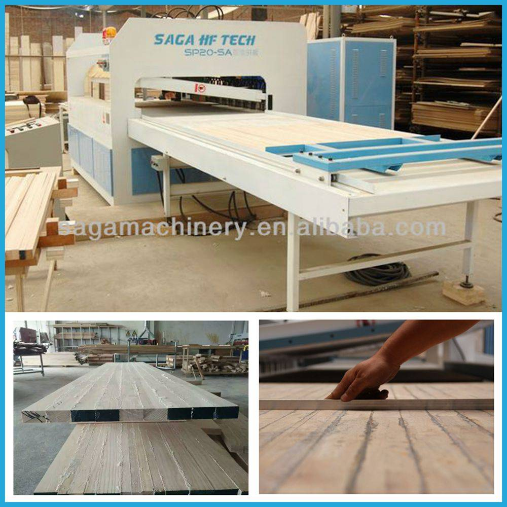 High frequency wood edge gluer/clamp carrier