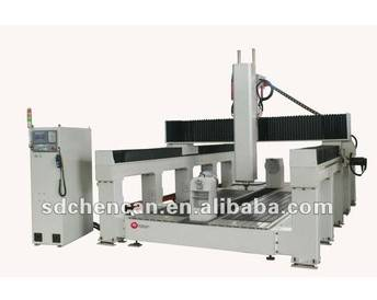 foam and wood molding with rotary cnc machinery
