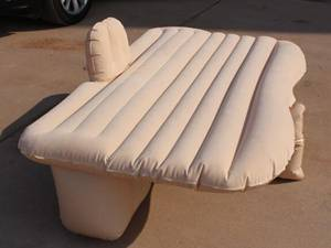 Cool blow up mattress turn back seat into bed
