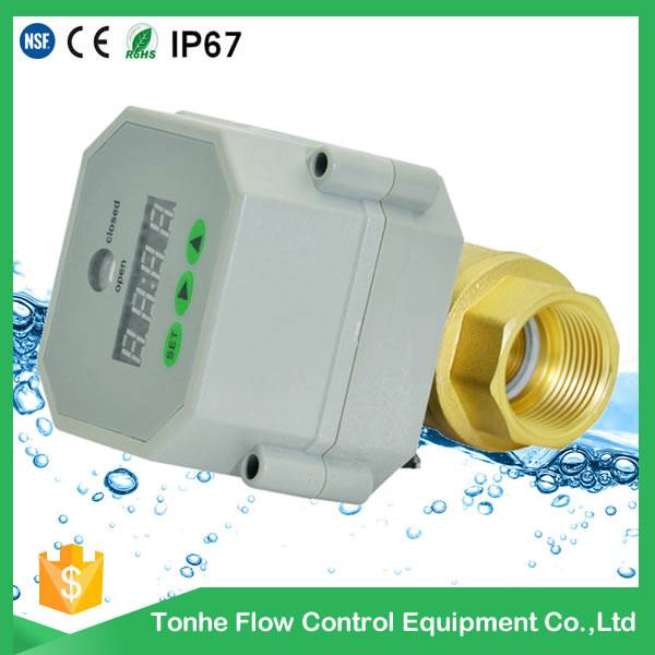 3/4'' brass ball structure and water media drain valve with timer,stop and drain valve