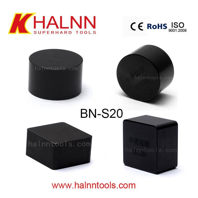 Halnn BN-S20 grade CBN inserts for hard turning quenched/hardened steel rolls/roller