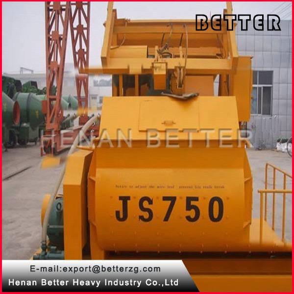 High Quality Concrete Mixer JS750 Double Concrete Mixing Machine