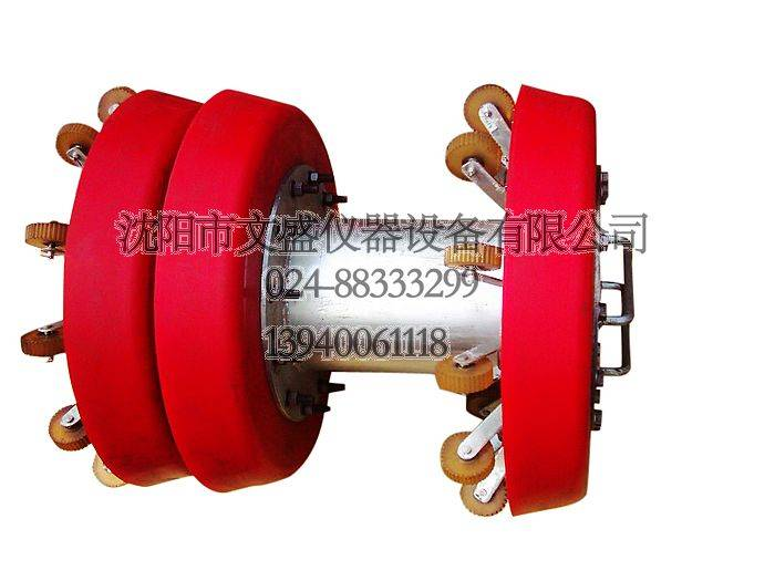 wheel supporting polyurethane ( PU ) cleaning pipe pig