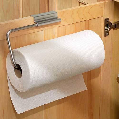 Over Cabinet Door Paper Towel Holder, Metal Wire