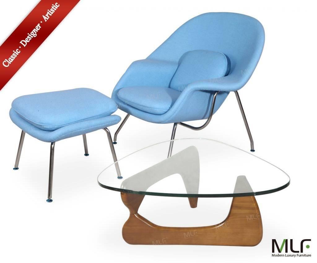 MLF Eero Saarinen Womb Chair & Ottoman and Isamu Noguchi Table