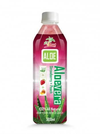 Aloe Verajuice drink Strawberry With Peach