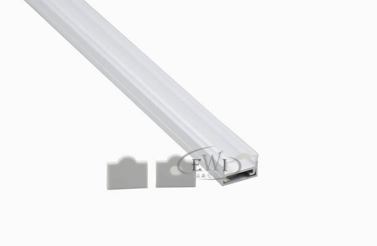 U type led aluminium heat sink profile with 30 clear lens